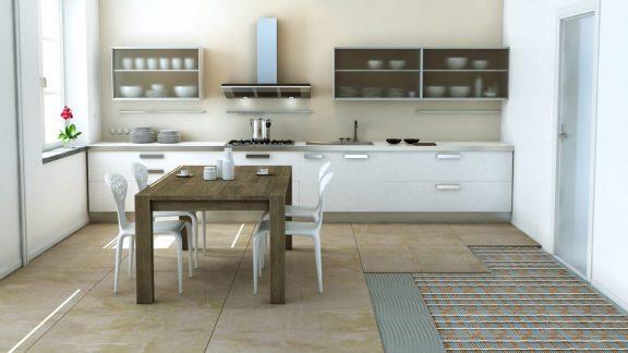 Električno ogrevanje tal kuhinje